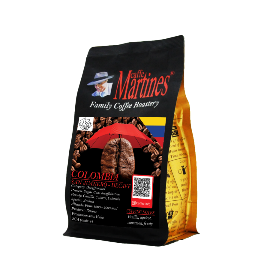Колумбия Санхуанеро- безкофеиново- 0.250кг от Martines Caffe